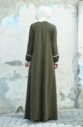 Wide dress Khaki Ecru 8015-01