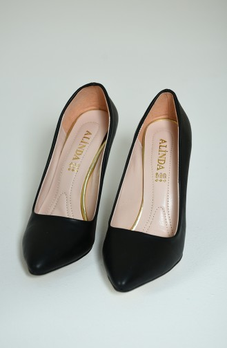 أحذية الكعب العالي أسود 1072-01