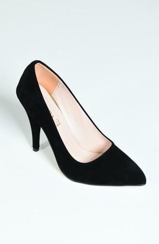 Chaussures a Talons Pour Femme 1072 Noir Daim 1072