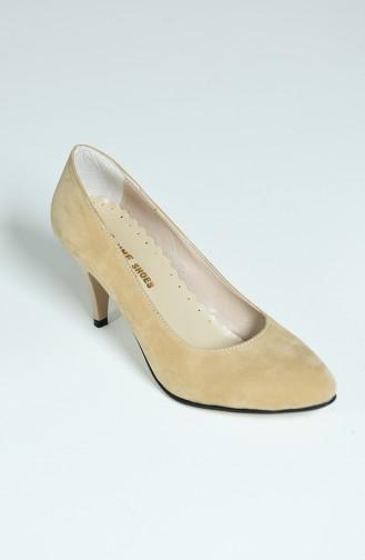 Beige Heeled Shoes 1092-05