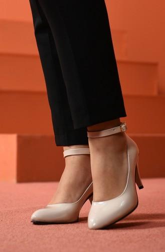 أحذية الكعب العالي بيج 1093-03