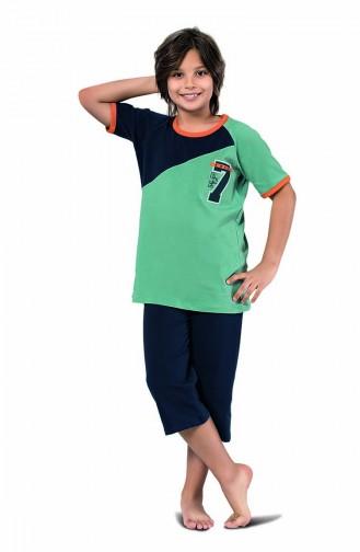 ملابس نوم للأطفال أخضر 3301
