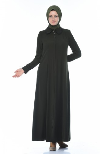 Abaya a Fermeture 8375-01 Khaki 8375-01