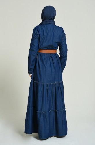 فستان أزرق كحلي 81739-02