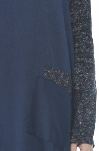 فستان كحلي فاتح 0011D-01