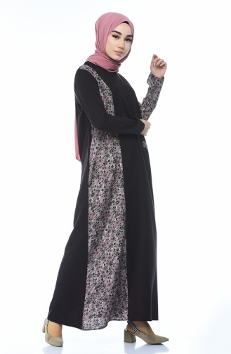 فستان بني غامق 0011J-01