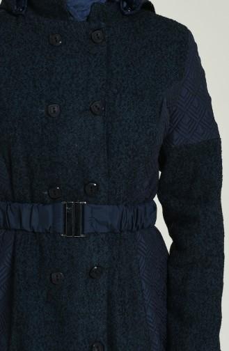 معطف طويل أزرق كحلي 1525-01
