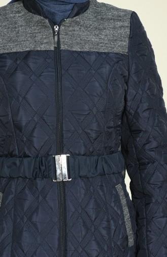 معطف طويل أزرق كحلي 1528-01