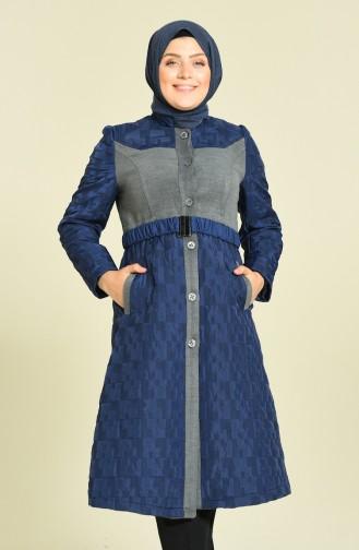 معطف طويل رمادي 1535-01