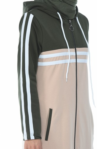 Sportmütze mit Reissverschluss  4083-01 Khaki Beige 4083-01