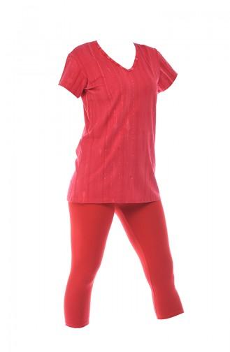 Rot Pyjama 2386