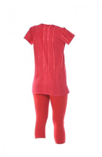 Bayan Taytlı Takım 2386 Kırmızı