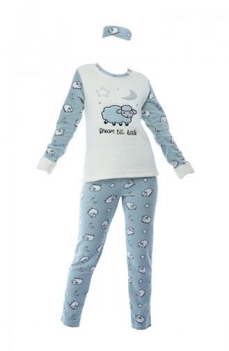 Naturfarbe Pyjama 8049-01