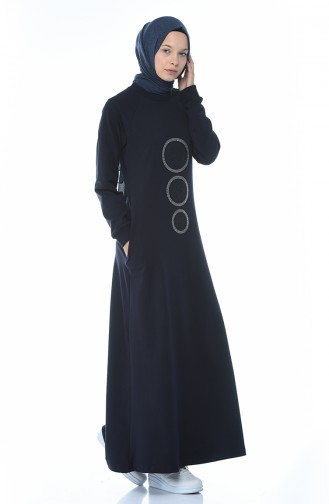 Navy Blue Dress 4080-02