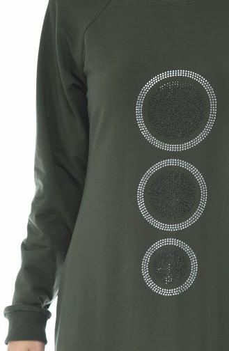 Taş Baskılı Spor Elbise 4080-04 Haki