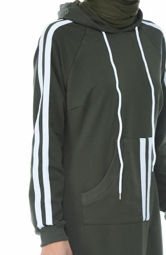 Khaki Hijap Kleider 4084-05