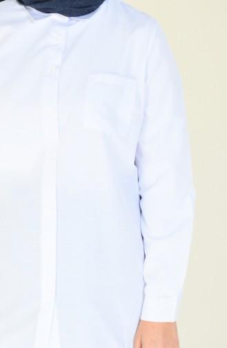 White Overhemdblouse 6385-01