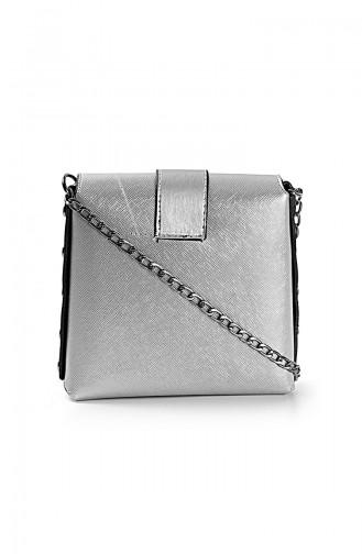 Women´s Shoulder Bag Silver 10653GU