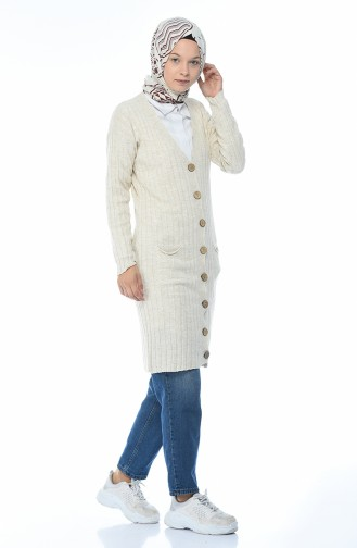 Gilet Tricot a Boutons 2044-05 Beige 2044-05