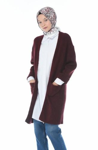 Long Gilet Tricot 7016-04 Bordeaux 7016-04