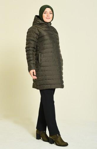 معطف أخضر داكن 1570-03
