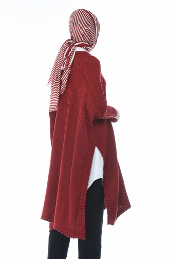 Claret red Poncho 1921-08