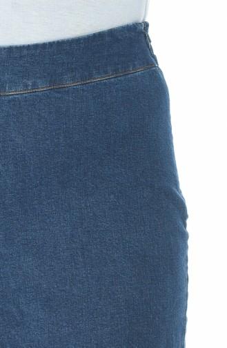 بنطال جينز فضفاض أزرق جينز 7283-01