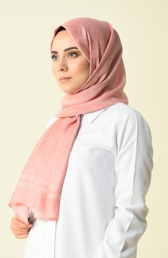 Armine Trend Monogram Shawl Dried Rose 44029-04