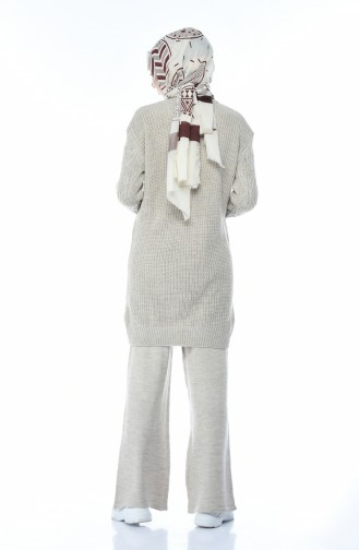 Triko Tunik Pantolon İkili Takım 1912-05 Bej