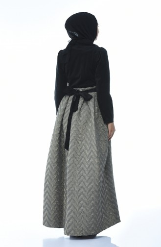 Black Islamic Clothing Evening Dress 24492D-01