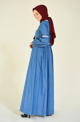 فستان أزرق جينز 81744-01