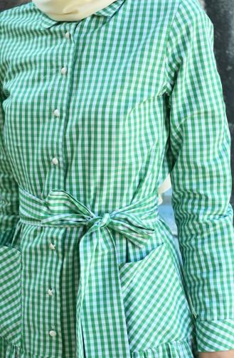 Kleid mit Band 8022-05 Grün 8022-05