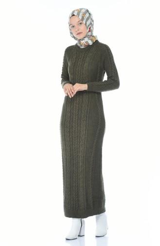فستان كاكي 0931-03