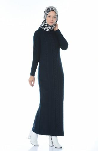فستان أزرق كحلي 0933-08