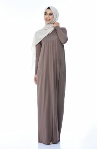 Dunkel-Nerz Hijap Kleider 0729B-12