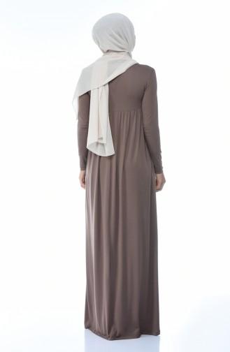 فستان بيج داكن مائل الى الوردي 0729-18