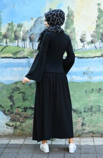 Schwarz Hijap Kleider 5038-01