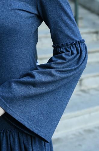 فستان نيلي 5038-06