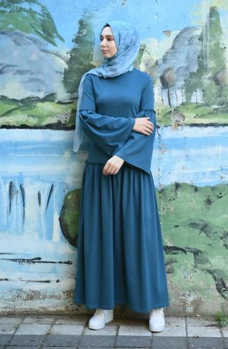 Oil Blue Dress 5038-08