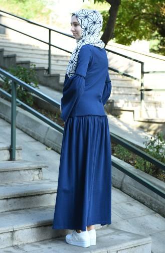 فستان أزرق كحلي 5038-09