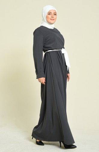 فستان فحم الإنتراسيت 60037A-01