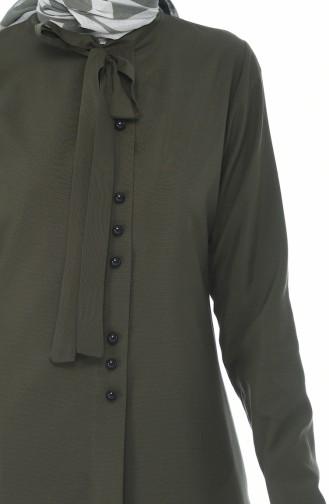 Tunique Col Cravate 3044-06 Khaki 3044-06