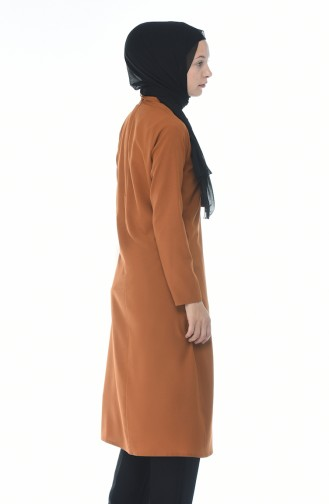 Kravat Yaka Tunik 3044-07 Taba