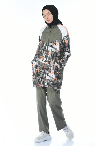 Khaki Jogginganzüge 9091-05