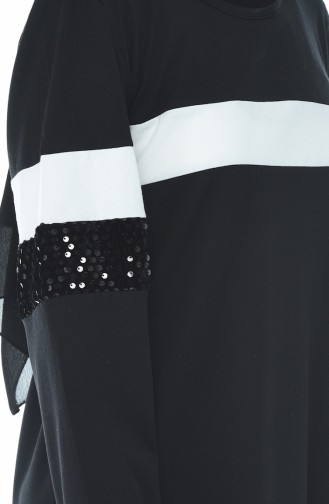 Sequin Detailed Tracksuits Black 1016-02