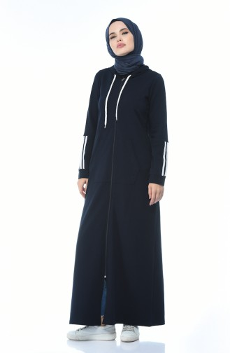 Dunkelblau Abayas 9099-02
