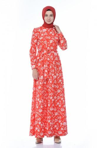فستان أحمر 60047-01