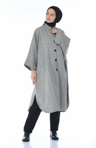 معطف طويل شتوي رمادي 5007-01