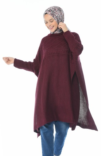 Claret red Poncho 7302-01
