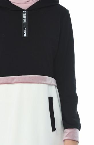 قميص رياضي أسود 19082-02